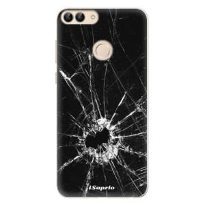 Silikonové pouzdro iSaprio (mléčně zakalené) Broken Glass 10 na mobil Huawei P Smart