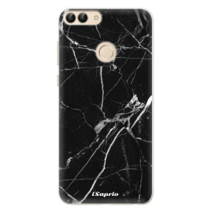 Silikonové pouzdro iSaprio (mléčně zakalené) Black Marble 18 na mobil Huawei P Smart