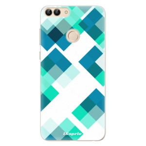 Silikonové pouzdro iSaprio (mléčně zakalené) Abstract Squares 11 na mobil Huawei P Smart