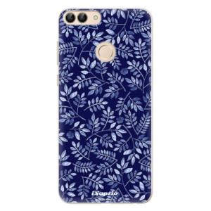 Silikonové pouzdro iSaprio (mléčně zakalené) Blue Leaves 05 na mobil Huawei P Smart