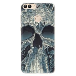 Silikonové pouzdro iSaprio (mléčně zakalené) Abstract Skull na mobil Huawei P Smart