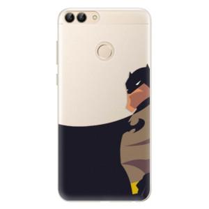 Silikonové pouzdro iSaprio (mléčně zakalené) BaT Komiks na mobil Huawei P Smart