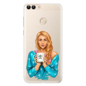 Silikonové pouzdro iSaprio (mléčně zakalené) Coffee Now Zrzka na mobil Huawei P Smart