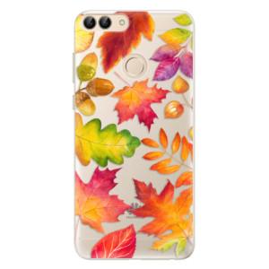 Silikonové pouzdro iSaprio (mléčně zakalené) Podzimní Lístečky na mobil Huawei P Smart