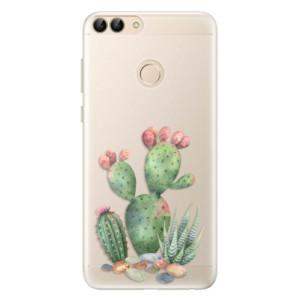 Silikonové pouzdro iSaprio (mléčně zakalené) Kaktusy 01 na mobil Huawei P Smart