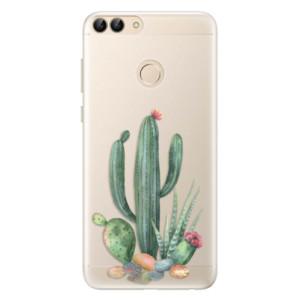 Silikonové pouzdro iSaprio (mléčně zakalené) Kaktusy 02 na mobil Huawei P Smart