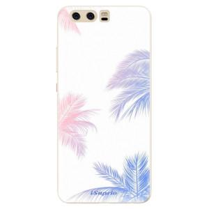 Silikonové pouzdro iSaprio (mléčně zakalené) Palmy 10 na mobil Huawei P10