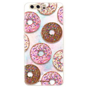 Silikonové pouzdro iSaprio (mléčně zakalené) Donutky Všude 11 na mobil Huawei P10