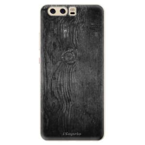 Silikonové pouzdro iSaprio (mléčně zakalené) Black Wood 13 na mobil Huawei P10