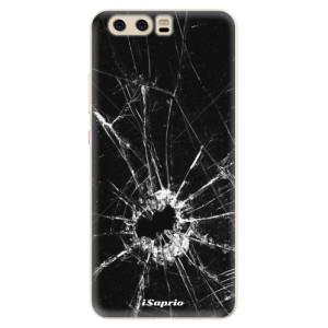 Silikonové pouzdro iSaprio (mléčně zakalené) Broken Glass 10 na mobil Huawei P10