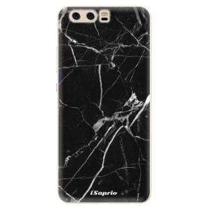 Silikonové pouzdro iSaprio (mléčně zakalené) Black Marble 18 na mobil Huawei P10