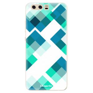 Silikonové pouzdro iSaprio (mléčně zakalené) Abstract Squares 11 na mobil Huawei P10