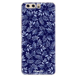 Silikonové pouzdro iSaprio (mléčně zakalené) Blue Leaves 05 na mobil Huawei P10