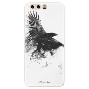 Silikonové pouzdro iSaprio (mléčně zakalené) Havran 01 na mobil Huawei P10