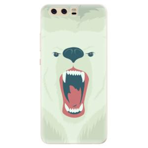 Silikonové pouzdro iSaprio (mléčně zakalené) Naštvanej Medvěd na mobil Huawei P10