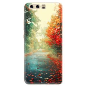 Silikonové pouzdro iSaprio (mléčně zakalené) Podzim 03 na mobil Huawei P10