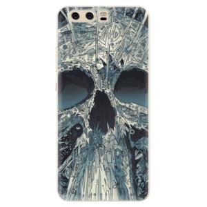 Silikonové pouzdro iSaprio (mléčně zakalené) Abstract Skull na mobil Huawei P10