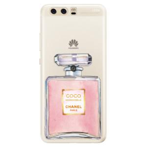 Silikonové pouzdro iSaprio (mléčně zakalené) Chanel Rose na mobil Huawei P10