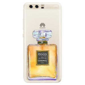 Silikonové pouzdro iSaprio (mléčně zakalené) Chanel Gold na mobil Huawei P10