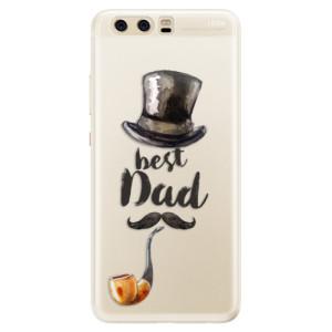 Silikonové pouzdro iSaprio (mléčně zakalené) Best Dad na mobil Huawei P10