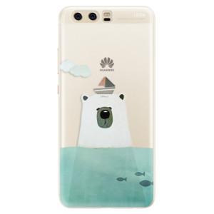 Silikonové pouzdro iSaprio (mléčně zakalené) Medvěd s Lodí na mobil Huawei P10