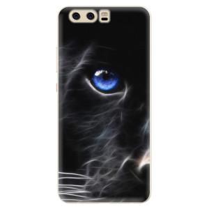 Silikonové pouzdro iSaprio (mléčně zakalené) Black Puma na mobil Huawei P10