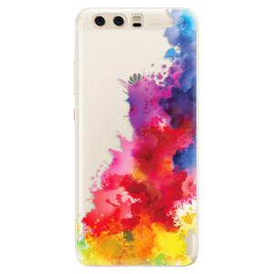 Silikonové pouzdro iSaprio (mléčně zakalené) Color Splash 01 na mobil Huawei P10
