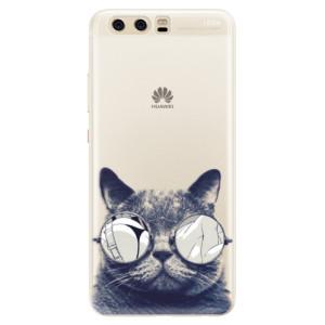 Silikonové pouzdro iSaprio (mléčně zakalené) Šílená Číča 01 na mobil Huawei P10