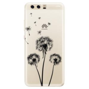 Silikonové pouzdro iSaprio (mléčně zakalené) Tři Černé Pampelišky na mobil Huawei P10