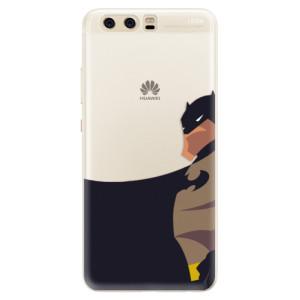 Silikonové pouzdro iSaprio (mléčně zakalené) BaT Komiks na mobil Huawei P10