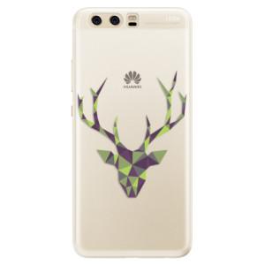 Silikonové pouzdro iSaprio (mléčně zakalené) Zelený Jelínek na mobil Huawei P10
