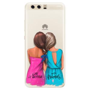 Silikonové pouzdro iSaprio (mléčně zakalené) Best Friends na mobil Huawei P10