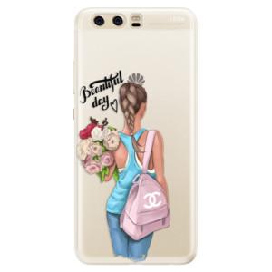 Silikonové pouzdro iSaprio (mléčně zakalené) Beautiful Day na mobil Huawei P10