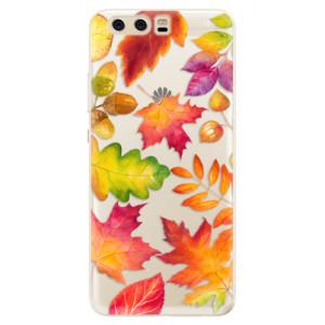 Silikonové pouzdro iSaprio (mléčně zakalené) Podzimní Lístečky na mobil Huawei P10