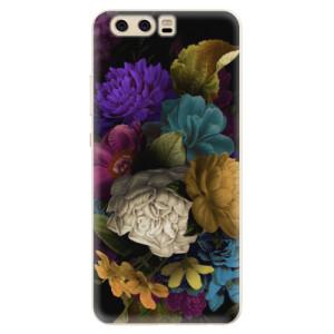 Silikonové pouzdro iSaprio (mléčně zakalené) Temné Květy na mobil Huawei P10