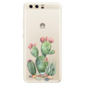 Silikonové pouzdro iSaprio (mléčně zakalené) Kaktusy 01 na mobil Huawei P10
