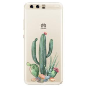 Silikonové pouzdro iSaprio (mléčně zakalené) Kaktusy 02 na mobil Huawei P10