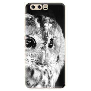 Silikonové pouzdro iSaprio (mléčně zakalené) BW Sova na mobil Huawei P10