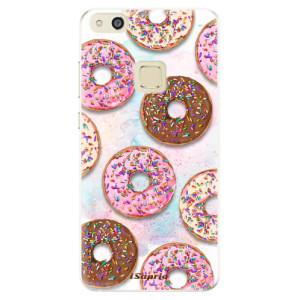 Silikonové pouzdro iSaprio (mléčně zakalené) Donutky Všude 11 na mobil Huawei P10 Lite