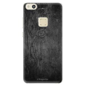 Silikonové pouzdro iSaprio (mléčně zakalené) Black Wood 13 na mobil Huawei P10 Lite