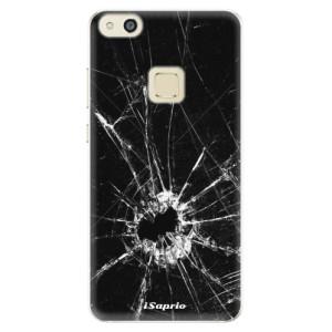 Silikonové pouzdro iSaprio (mléčně zakalené) Broken Glass 10 na mobil Huawei P10 Lite