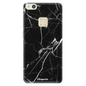 Silikonové pouzdro iSaprio (mléčně zakalené) Black Marble 18 na mobil Huawei P10 Lite