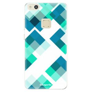 Silikonové pouzdro iSaprio (mléčně zakalené) Abstract Squares 11 na mobil Huawei P10 Lite
