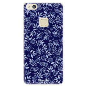 Silikonové pouzdro iSaprio (mléčně zakalené) Blue Leaves 05 na mobil Huawei P10 Lite
