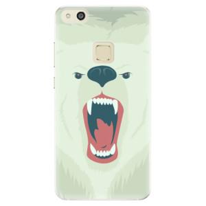 Silikonové pouzdro iSaprio (mléčně zakalené) Naštvanej Medvěd na mobil Huawei P10 Lite