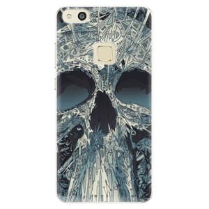 Silikonové pouzdro iSaprio (mléčně zakalené) Abstract Skull na mobil Huawei P10 Lite