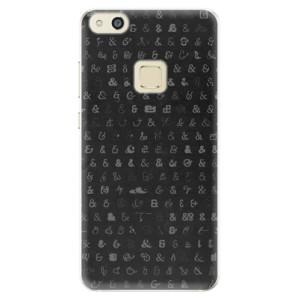 Silikonové pouzdro iSaprio (mléčně zakalené) Ampersand 01 na mobil Huawei P10 Lite