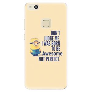 Silikonové pouzdro iSaprio (mléčně zakalené) Be Awesome na mobil Huawei P10 Lite