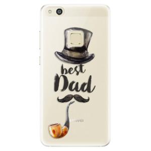 Silikonové pouzdro iSaprio (mléčně zakalené) Best Dad na mobil Huawei P10 Lite