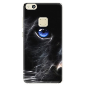 Silikonové pouzdro iSaprio (mléčně zakalené) Black Puma na mobil Huawei P10 Lite